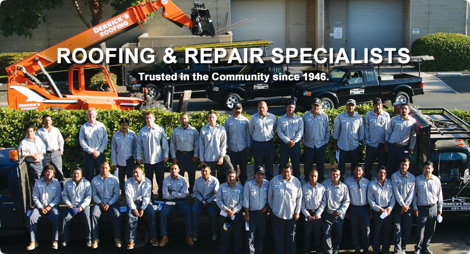 The Derrick's Roofing Team - Expert roofers proudly serving Santa Barbara, Goleta & Montecito, CA